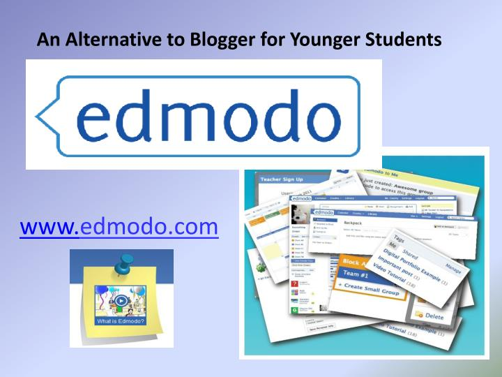 An Alternative to Blogger for Younger Students