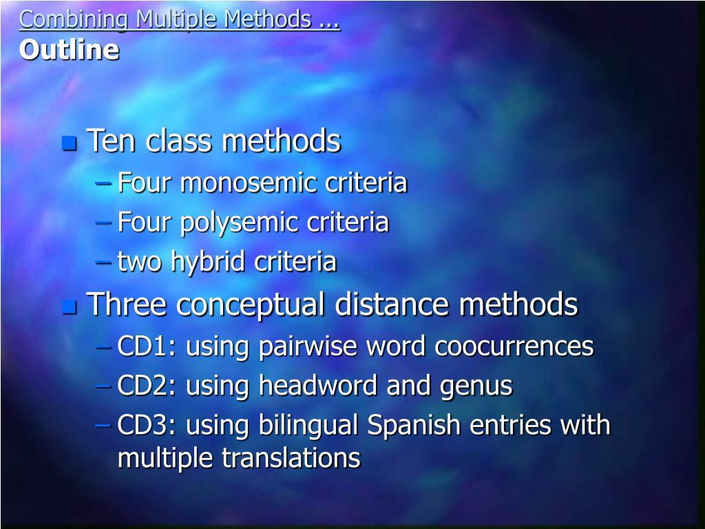 Ten class methods