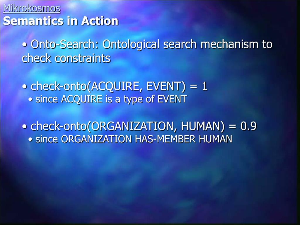 Onto-Search: Ontological search mechanism to check constraints