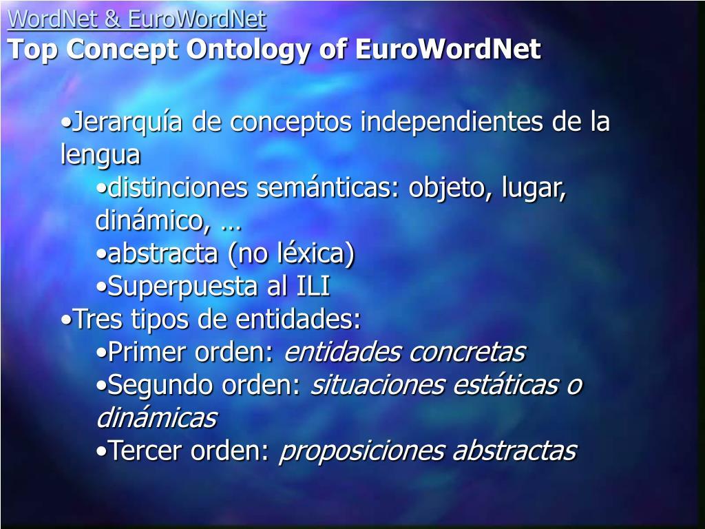 Jerarquía de conceptos independientes de la lengua