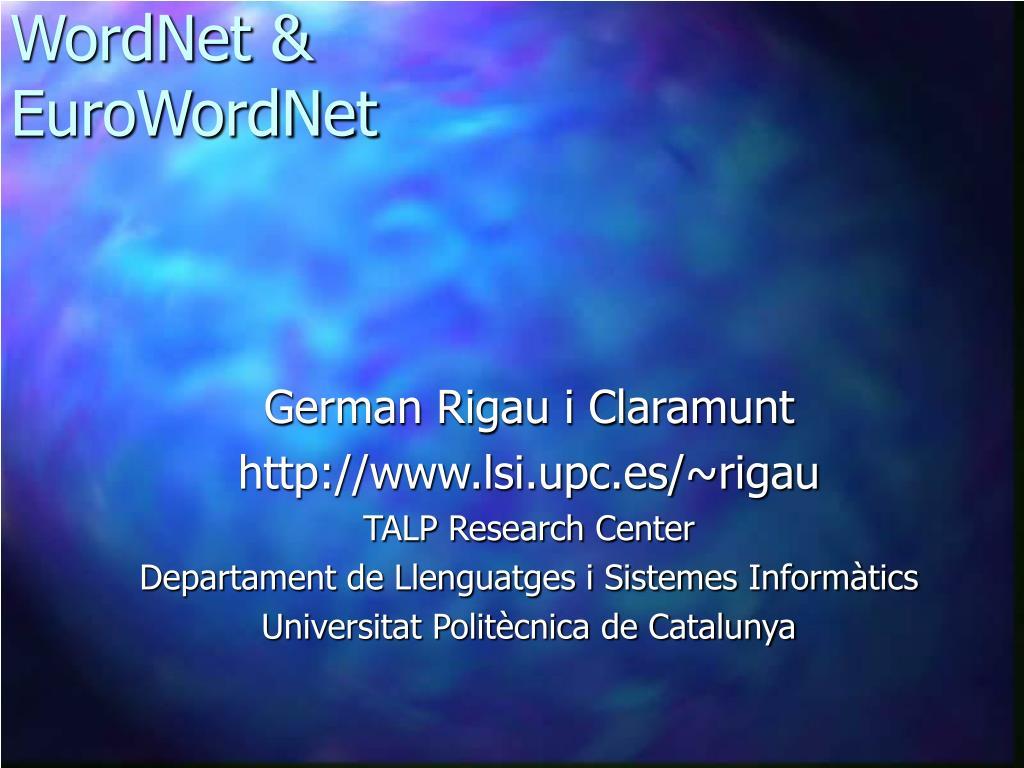 WordNet &