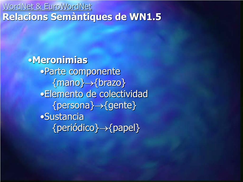 Meronimias