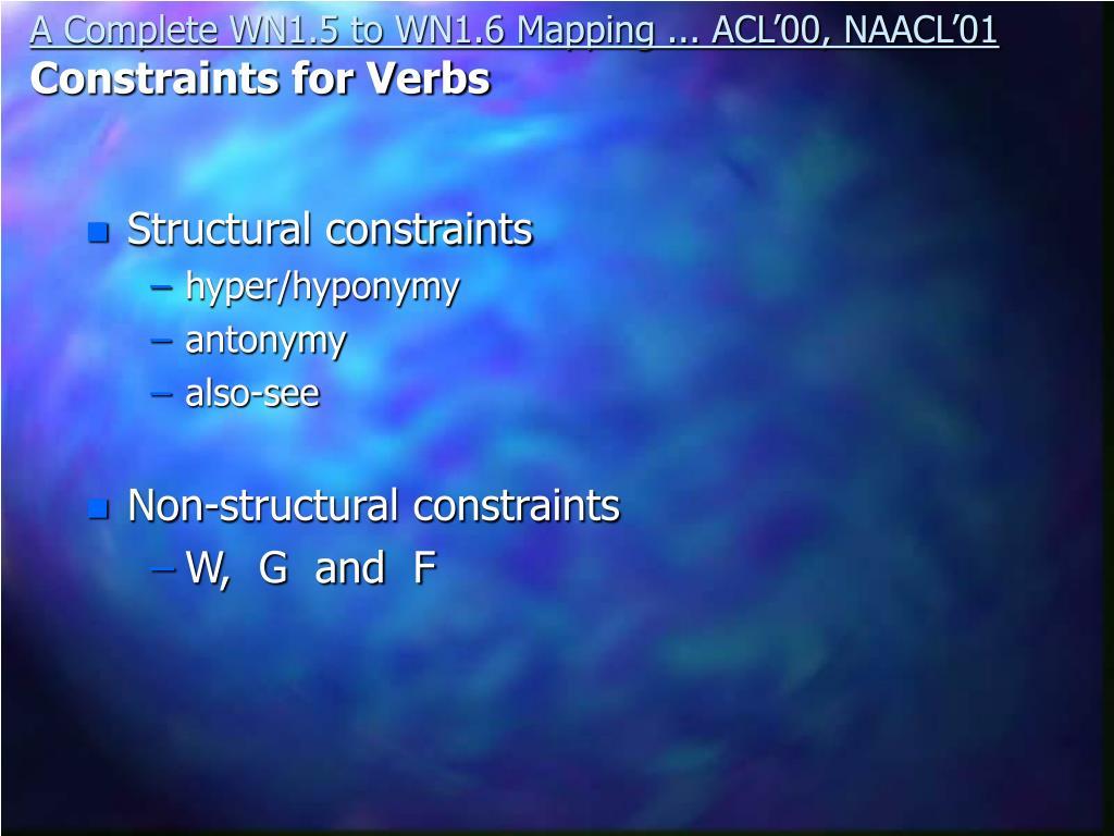 Structural constraints