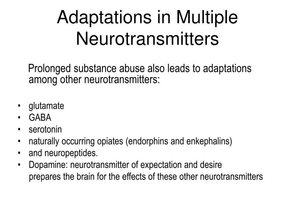 Adaptations in Multiple Neurotransmitters