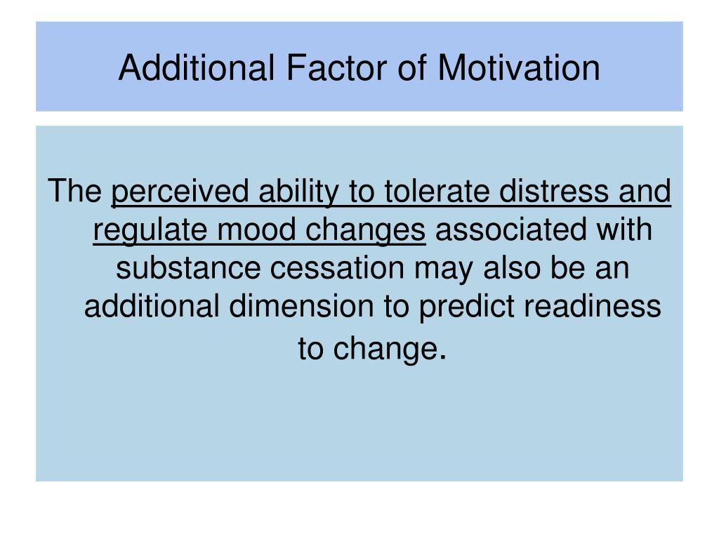 Additional Factor of Motivation