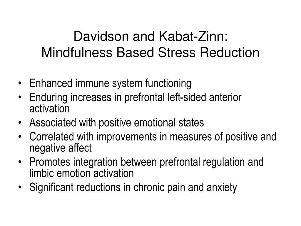 Davidson and Kabat-Zinn: