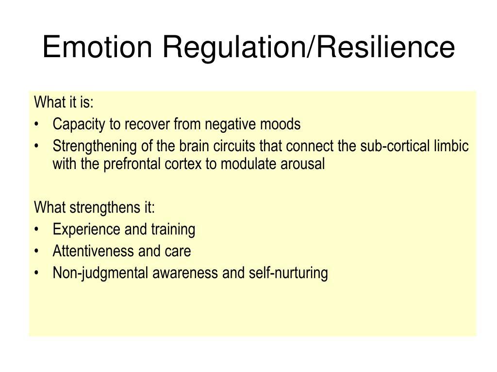 Emotion Regulation/Resilience