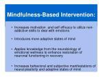 mindfulness based intervention