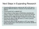 next steps in expanding research