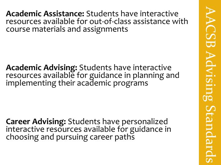 AACSB Advising Standards