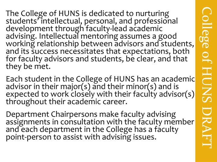 College of HUNS DRAFT