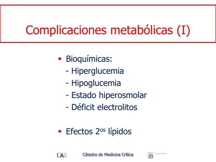 Complicaciones metabólicas (I)