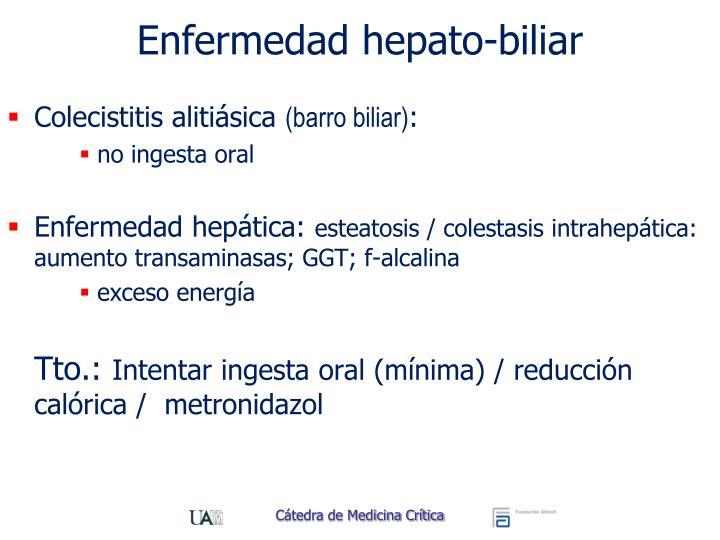 Enfermedad hepato-biliar