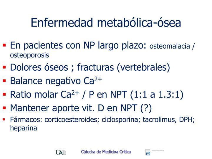 Enfermedad metabólica-ósea