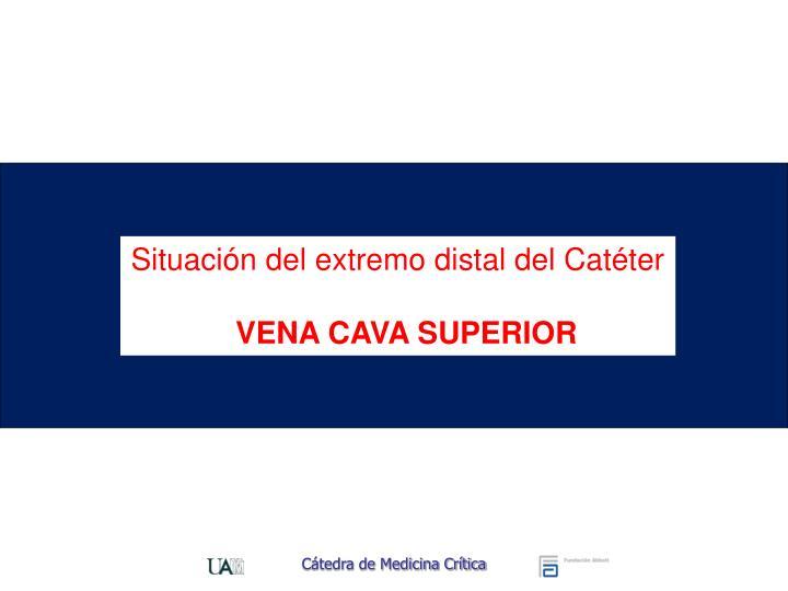 Situación del extremo distal del Catéter
