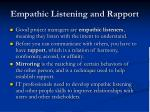 empathic listening and rapport