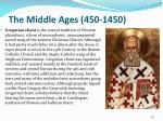 the middle ages 450 145014
