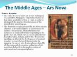 the middle ages ars nova
