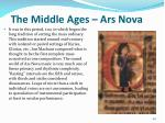 the middle ages ars nova1