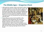 the middle ages gregorian chant