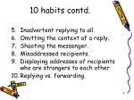 10 habits contd