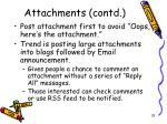 attachments contd