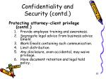 confidentiality and security contd1