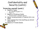 confidentiality and security contd3