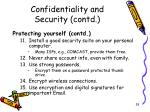 confidentiality and security contd4