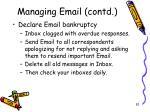 managing email contd