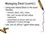 managing email contd2