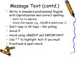 message text contd