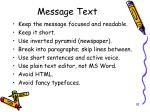 message text