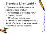 signature line contd