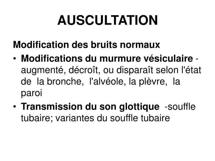 AUSCULTATION