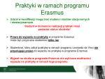 praktyki w ramach programu erasmus2