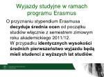 wyjazdy studyjne w ramach programu erasmus4