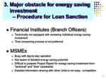 3 major obstacle for energy saving investment procedure for loan sanction
