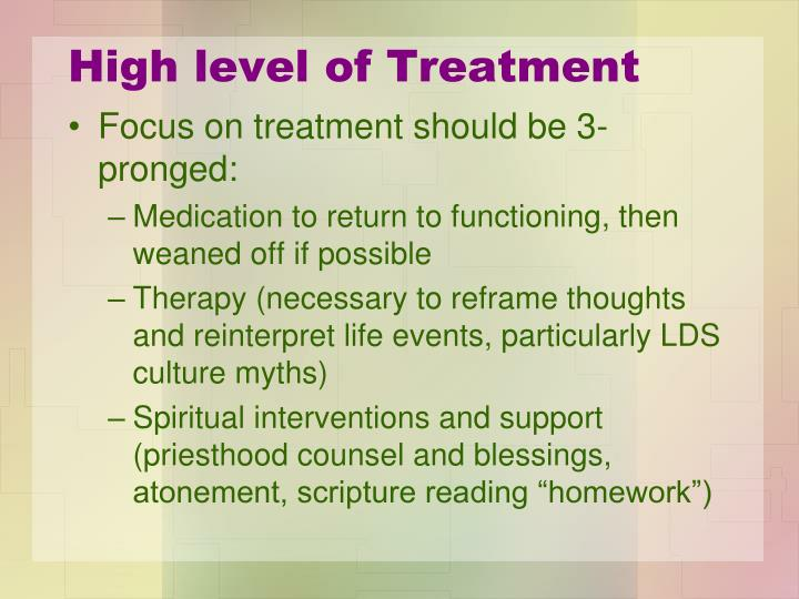 High level of Treatment