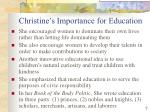 christine s importance for education1