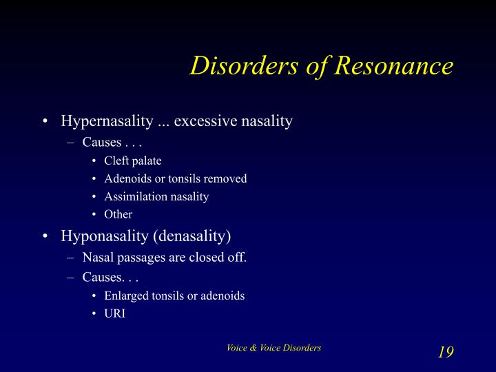Disorders of Resonance