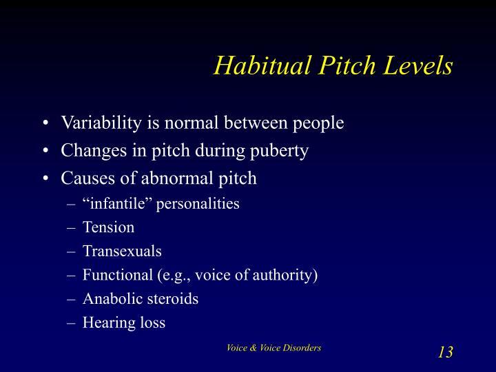 Habitual Pitch Levels