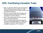 edc facilitating canadian trade