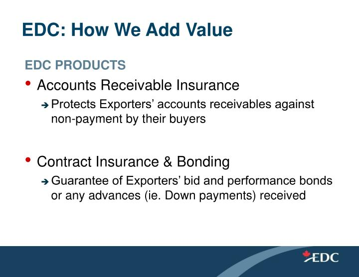 Edc how we add value