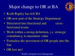 major change to or at ba