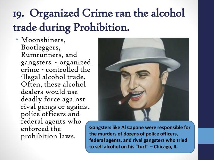 organized crime in the 1920s essay Organized crime s power in 1920 s while the 18th amendment was passed in order to reduce the rate of crime that was influenced by alcohol, it ironically.