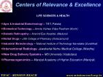 centers of relevance excellence7