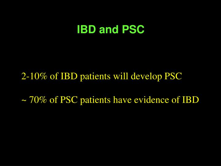 IBD and PSC