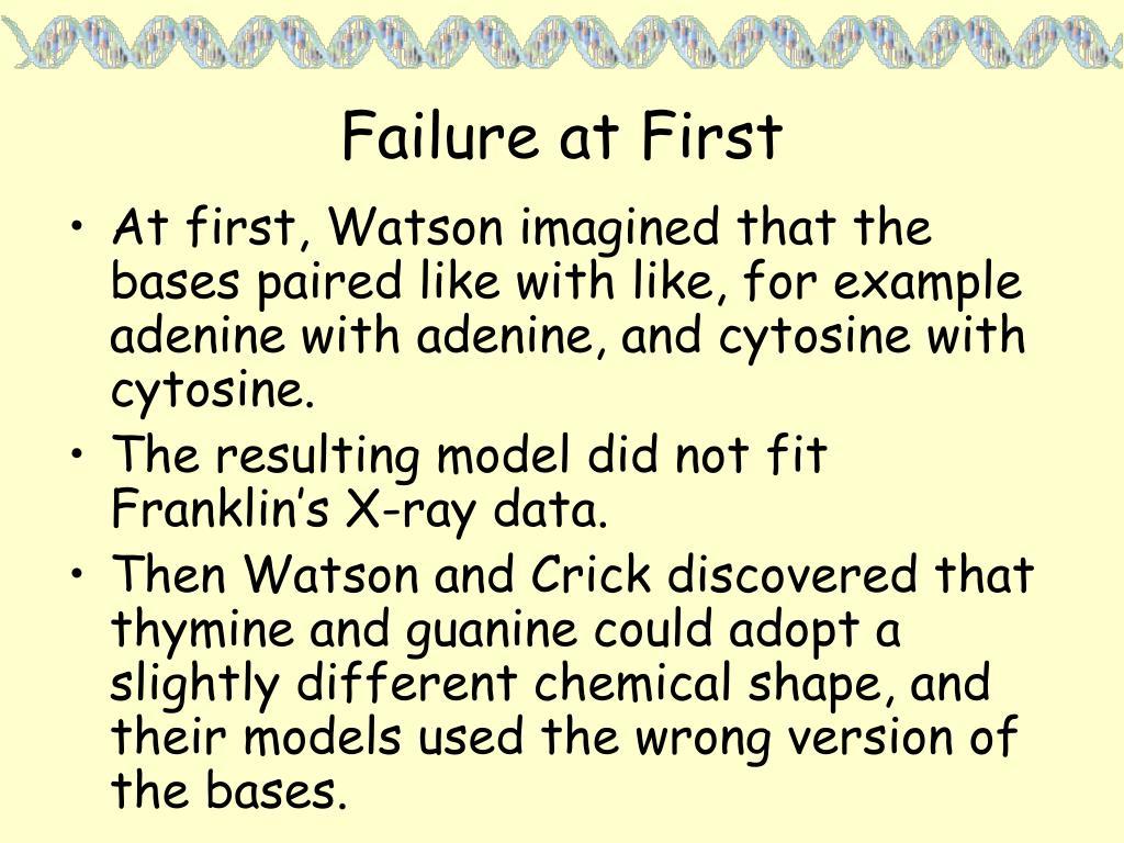 Failure at First