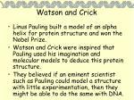 watson and crick